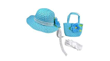girls hat and gloves, easter clothing for girls, easter outfit