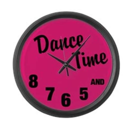 cafepress dance time clock, dance room decor