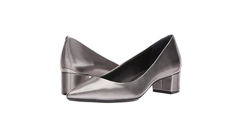calvin klein pumps, block heels, block heel shoes, block heel pumps