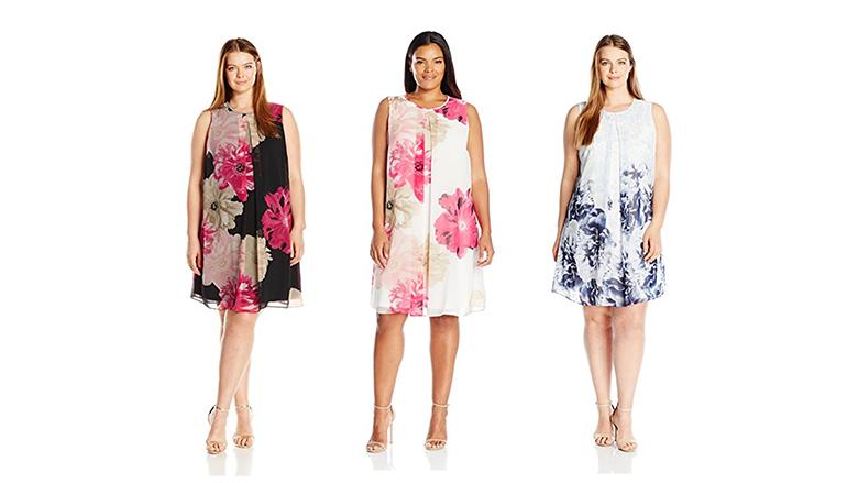 calvin klein dress, plus size floral dresses, plus size summer dresses, plus size floral print dress