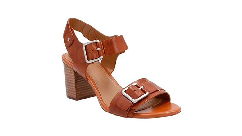 clarks womens sandals, block heels, block heel shoes, block heel sandals