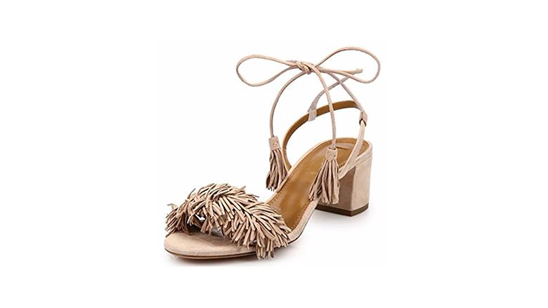 suede fringe sandals, block heels, block heel shoes, block heel sandals