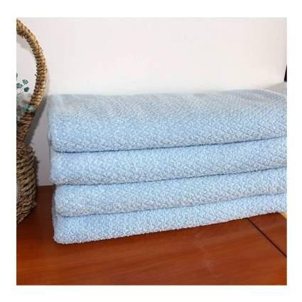 blue bath sheet set