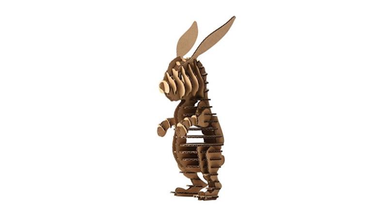 bunny puzzle, paper bunny puzzle, 3D puzzle