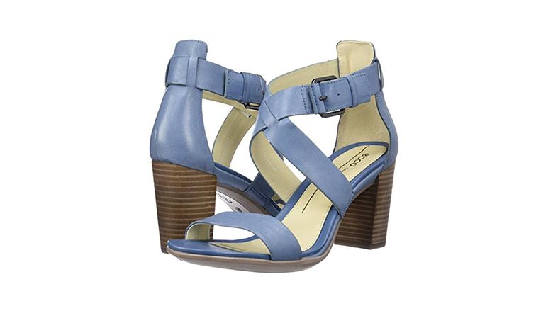 ecco womens sandals, block heels, block heel shoes, block heel sandals