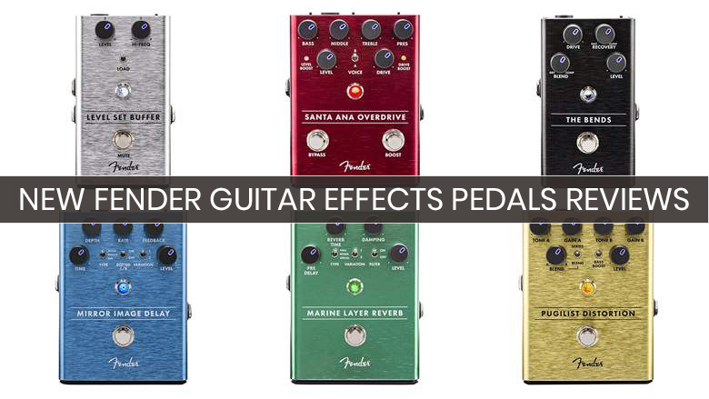 new fender effects pedals