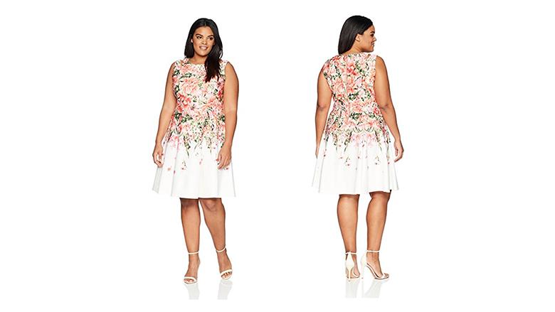 Sleeveless plus size dress, plus size floral dresses, plus size summer dresses, plus size floral print dress