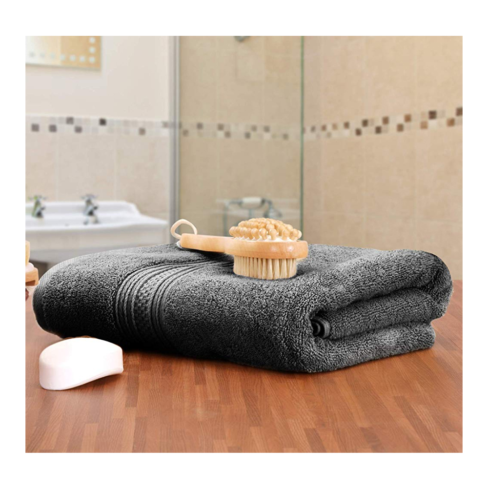 Nausha 4X Extra Large Bath Sheet Towel 100/% Egyptian Cotton Super Fluffy 600 GSM High Absorbent Quick Dry Bathroom Sheet Gift Set 80 x 140 cm Black