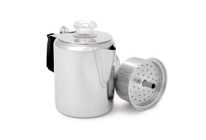 GSI Outdoors Glacier Stainless Steel Percolator Coffee Pot