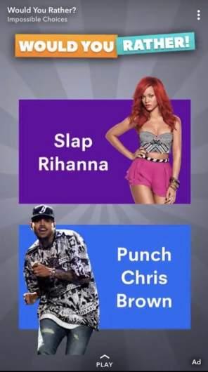 Slap Rihanna ad