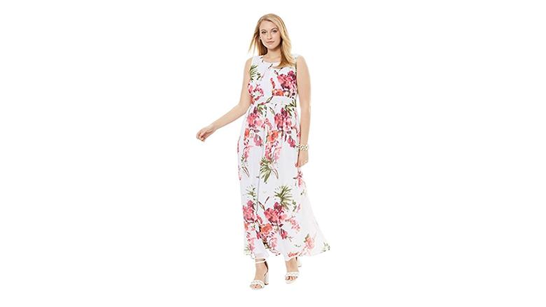 Jessica London dress, plus size floral dresses, plus size summer dresses, plus size floral print dress