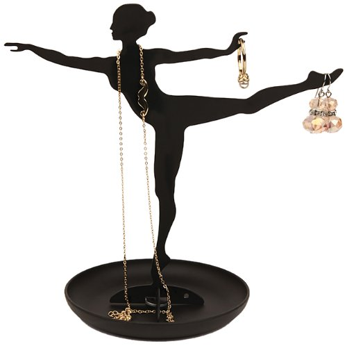 kikkerland ballerina jewelry stand, dance room decor