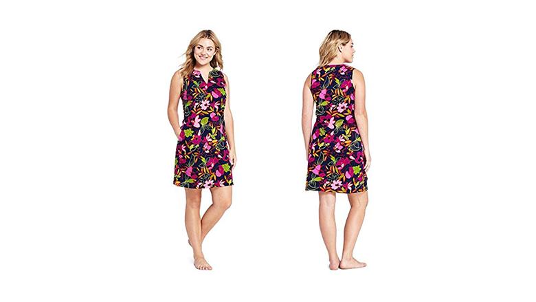 land's end plus size dress, plus size floral dresses, plus size summer dresses