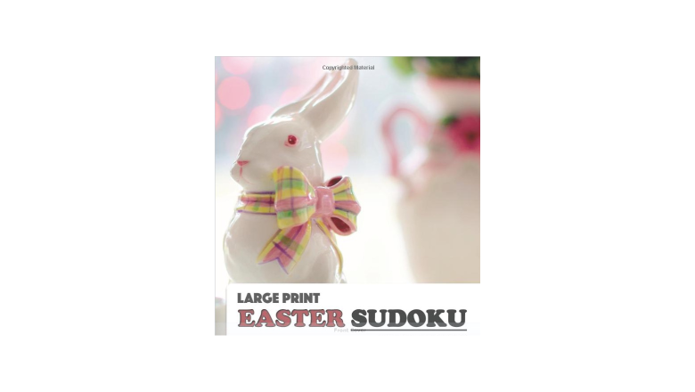 sudoku book, easter activity book, easter puzzle b