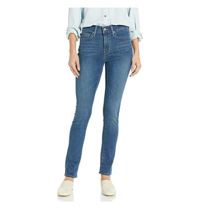 mid rise slimming skinny jeans