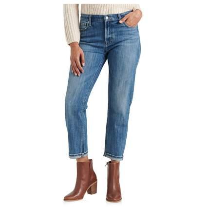 mid rise slim boyfriend jeans