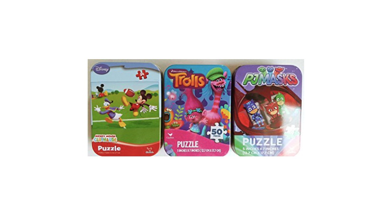 mini puzzles, mini puzzle packs, trolls puzzles, mickey mouse club puzzle, easter puzzles