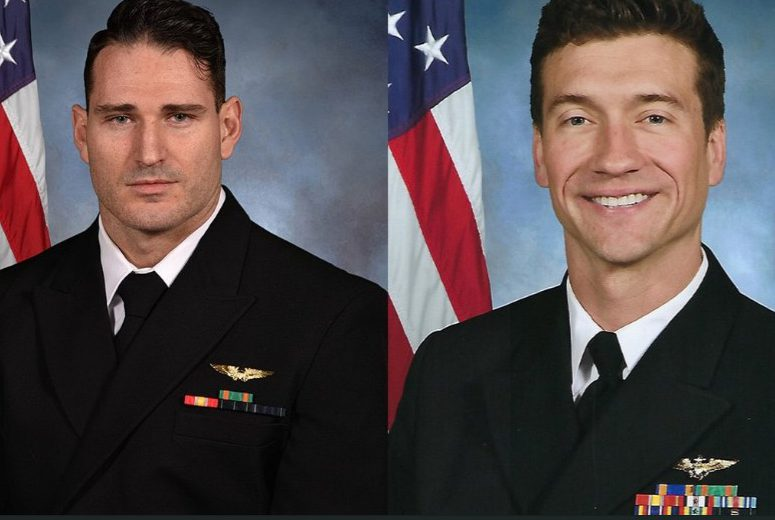 Lt. Caleb King, Lt. Cmdr. Brice Johnson, fighter jet crash