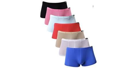 neiku mens ice silk boxer briefs 7-pack