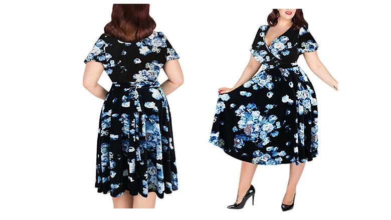 plus size wrap dress, plus size floral dresses, plus size summer dresses, plus size floral print dress