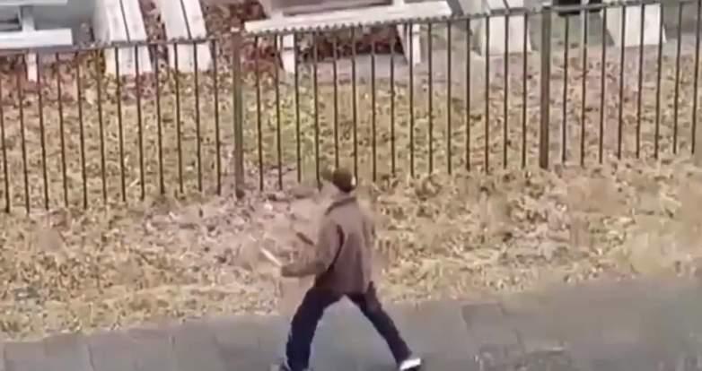 netherlands knife attack video