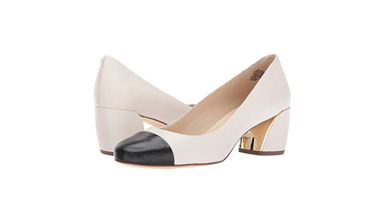 nine west pumps, block heels, block heel shoes, block heel pumps