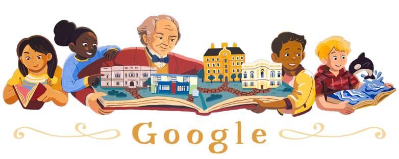 george peabody, google doodle