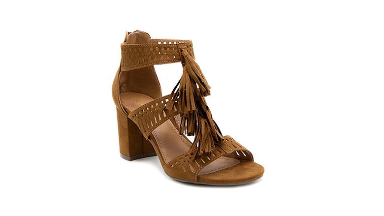 rampage sandals, block heels, block heel shoes, block heel sandals