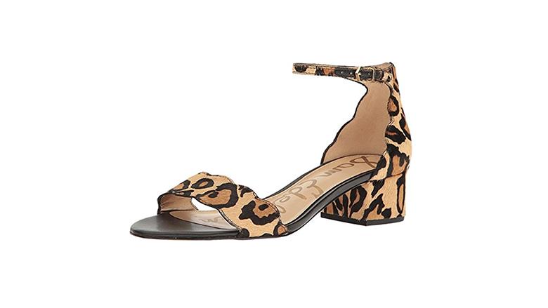 leopard print sandals, block heels, block heel shoes, block heel sandals