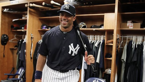 Russell Wilson yankees, Russell Wilson baseball
