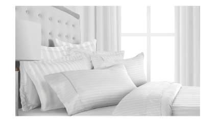 striped white bed sheet set