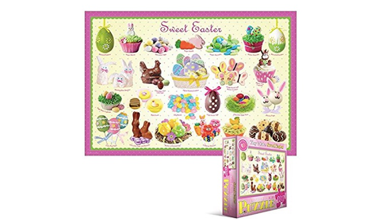 candy easter puzzle, sweets easter puzzle, big kid easter puzzle