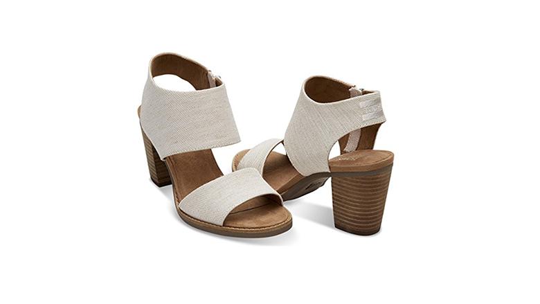 toms sandals, block heels, block heel shoes, block heel sandals