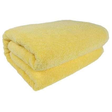 yellow turkish cotton bath sheet