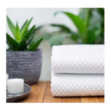 waffle weave bath sheets