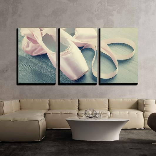 wall26 pointe shoes canvas, dance room decor
