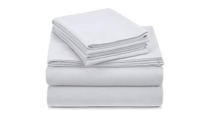 white velvet flannel bed sheets