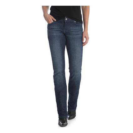 mid rise striaght leg jeans