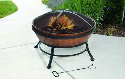 DeckMate Kay Home Product's Avondale Steel Fire Bowl, best outdoor fire pit, best wood fire pit