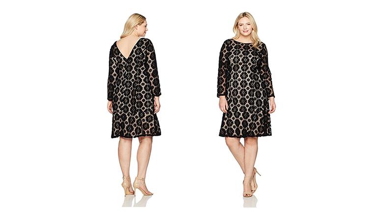 plus size lace dress, plus size little black dress, plus size black dresses, plus size lbd