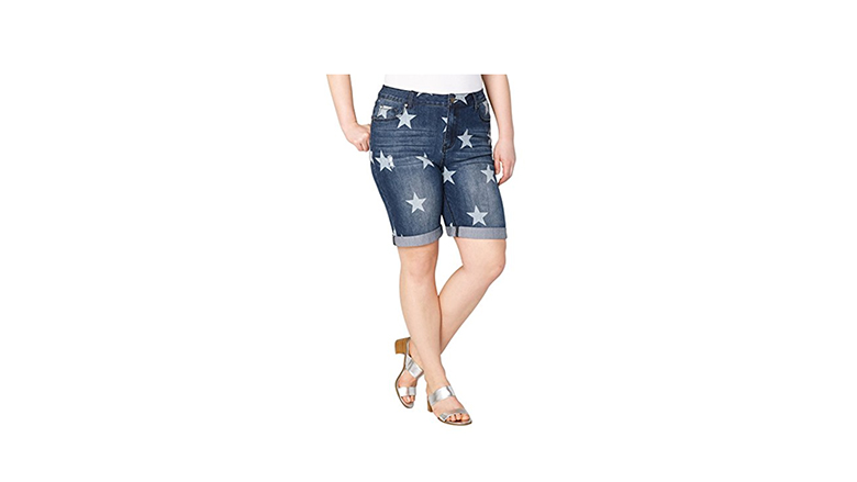 avenue denim shorts, plus size denim shorts, plus size jean shorts, plus size Bermuda shorts