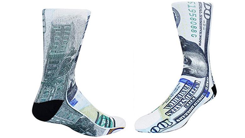 Ben Franklin 100 dollar Bill Socks