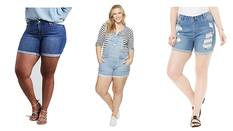 plus size denim shorts, plus size shorts, plus size jean shorts, women's plus size shorts, plus size bermuda shorts
