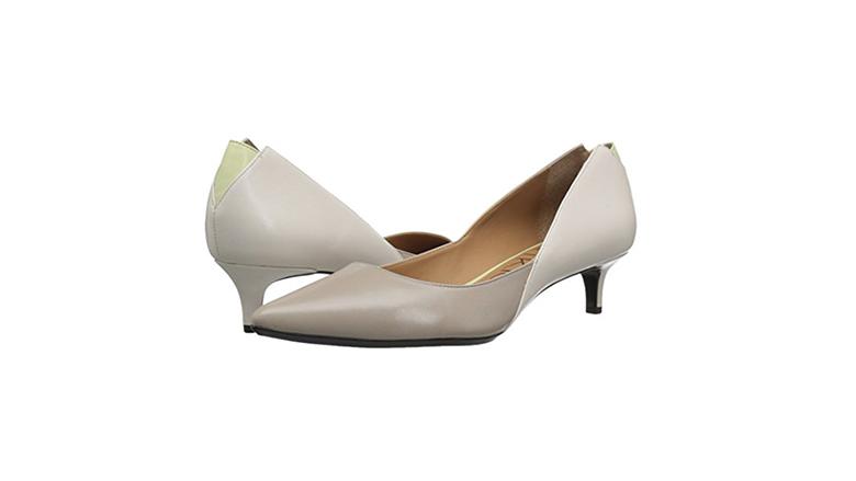 calvin klein kitten heels, kitten heel pumps, kitten heel shoes