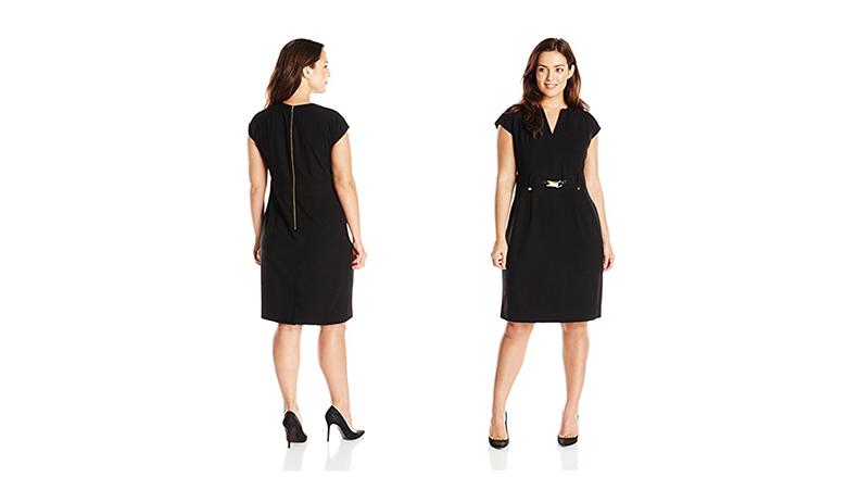plus size shirt dress, plus size little black dress, plus size black dresses, plus size lbd