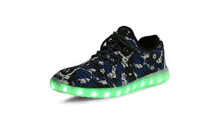 sexphd Kids Boy and Girls 11 Color Led Sneakers Light Up Flashing Skateboard Shoes Toddler//Little Kid//Big Kid