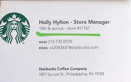 Holly Hylton Starbucks Philadelphia