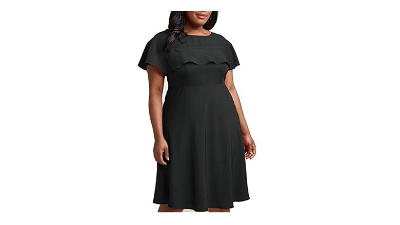 plus size cocktail dress, plus size little black dress, plus size black dresses, plus size lbd