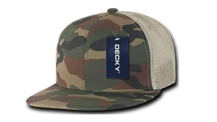decky cotton flat bill camo trucker hat, Trucker hats, trucker hats for men, cheap trucker hat, mesh trucker hats