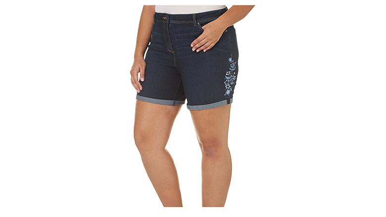 dept. 8 plus size denim shorts, plus size denim shorts, plus size jean shorts, women's plus size shorts